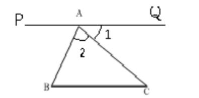 证明三角形内角和180°